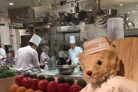 ホテルのオープン厨房